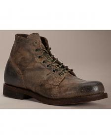 Frye Prison Boot Distressed Wax Suede Boots