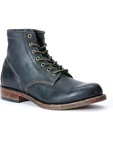 Frye Men's Arkansas Mid Lace Polished Stonewash Boots