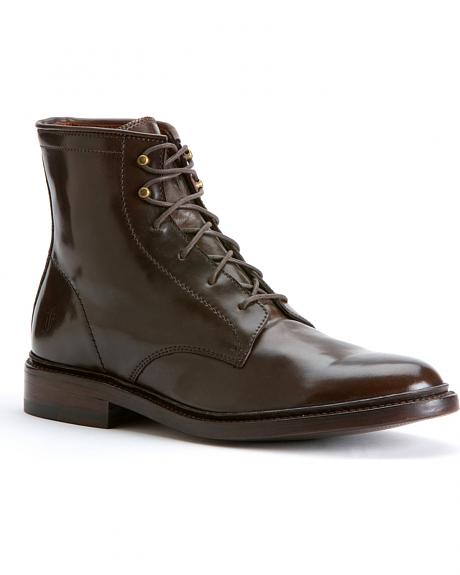 Frye James Lace Up Cordovan Boots
