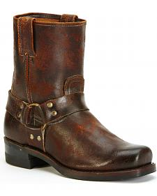 Frye Men's Harness 8R Waxed Suede Boots