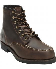 Frye Arkansas Moc Toe Oiled Leather Boots