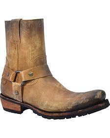 Liberty Black Men's America Tan Acabado Tambor Harness Short Boots