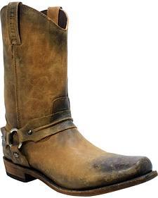 Liberty Black Men's America Tan Acabado Tambor Harness Boots