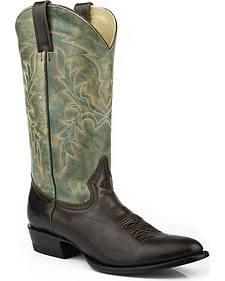Stetson Wyatt Cowboy Boots - Round Toe