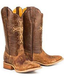 Tin Haul Ichthys Philippians 4:13 Cowboy Boots - Square Toe