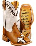 Tin Haul Between Two Thieves John 3:16 Cowboy Boots