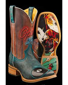 Tin Haul Pool Hall Rack 'Em Up Cowboy Boots - Square Toe