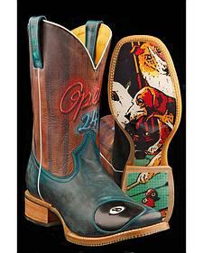 Tin Haul Pool Hall Rack 'Em Up Cowboy Boots - Square Toe