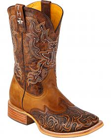 Tin Haul Smokin' Hot Rod Cowboy Boots - Square Toe