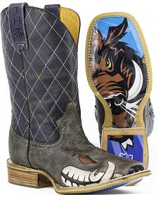 Tin Haul Men's Not Boaring Cowboy Boots - Square Toe