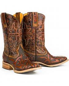 Tin Haul Animal House Stag Cowboy Boots - Square Toe
