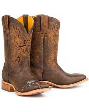 Tin Haul Mud Flap Dancer Cowboy Boots - Square Toe