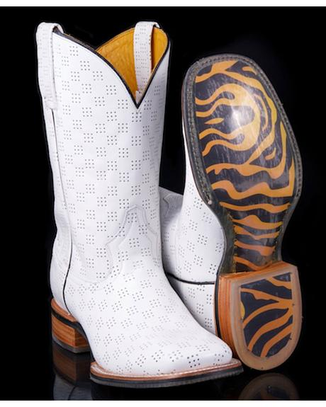 Tin Haul A Million Holes with Tiger Outsole Cowboy Boots - Square Toe