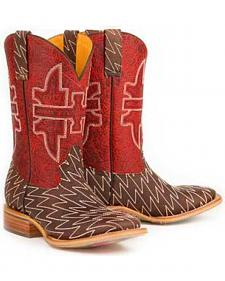 Tin Haul Lightning Lucy Cowboy Boots - Square Toe