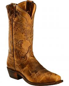Tony Lama Men's Americana Leather Western Boots - Square Toe