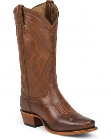 Tony Lama Men's Tan Ranch Jersey El Paso Cowboy Boots - Square Toe