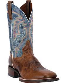Dan Post Blue Lava Teton Cowboy Boots - Square Toe