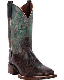 Dan Post Turquoise Lava Teton Cowboy Boots - Square Toe