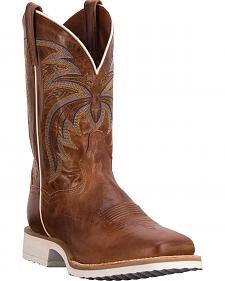 Dan Post Cayenne Chestnut Diamond Pro Cowboy Boots - Square Toe