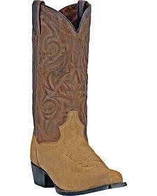 Dan Post Gabriel Suede Cowboy Boots - Square Toe