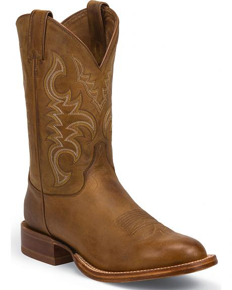 Justin Golden Brown Stampede CPX Cowboy Boots - Round Toe