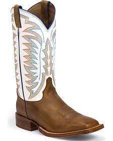 Justin Golden Brown Tack Stampede CPX Cowboy Boots - Square Toe