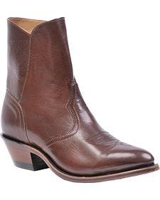 Boulet Western Side Zip Dress Boots - Medium Toe