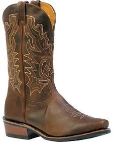 Boulet Selvaggio Rider Sole Boots - Square Cutter Toe