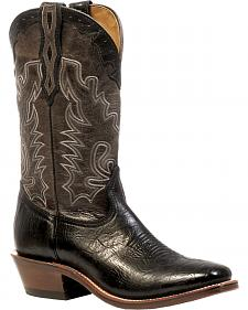 Boulet Shoulder Black Boots - Square Toe