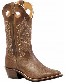 Boulet Shoulder Crazy Horse Boots - Square Toe