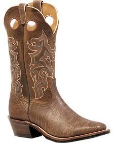 Boulet Shoulder Crazy Horse Boots - Square Toe