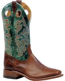 Boulet Delantero Piel Damiana Moka Cowboy Boots - Square Toe
