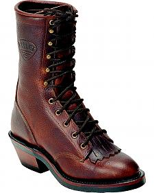 """Boulet Packer Grizzly Mountain 9"""" Lace Up Boots - Round Toe"""