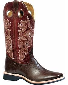 Boulet Shoulder Taurus Noce Puma Rojo Cowboy Boots - Square Toe