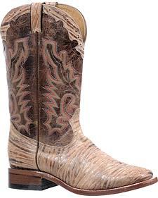 Boulet Oak Tan Puma Madera Boots - Square Toe
