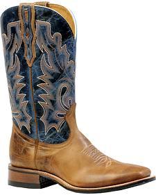 Boulet Damasko Taupe Puma Turqueza Cowboy Boots - Square Toe