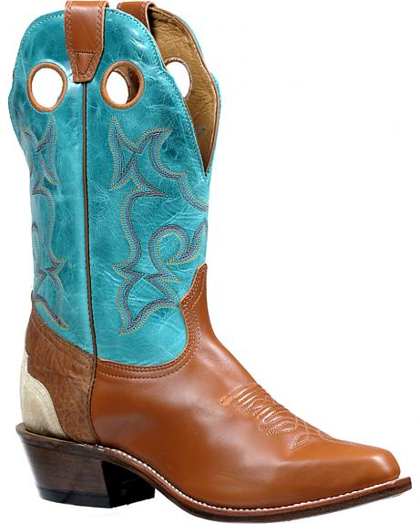 Boulet Berlina Brandy Turqueza Roughstock Cowboy Boots - Pointed Toe
