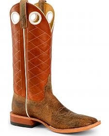 Anderson Bean Boots Horse Power Men's Copper Cow Western Boots - Square Toe