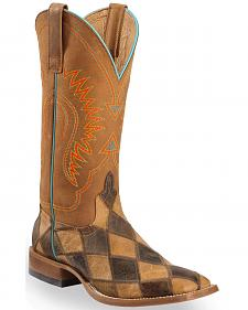 Anderson Bean Boots Horse Power Men's Patchwork Western Boots - Square Toe