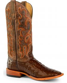Anderson Bean Boots Horse Power Men's Nile Croc Western Boots - Square Toe