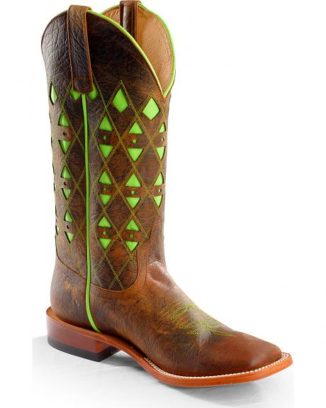 Anderson Bean Boots Horse Power Men's Toast Bison Western Boots - Square Toe