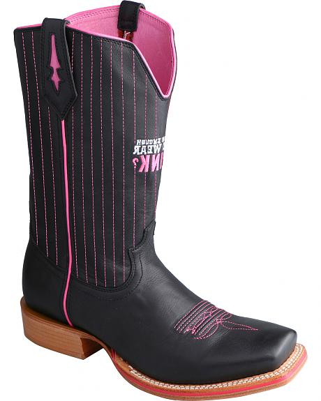 Twisted X Men's Tough Enough to Wear Pink Red River Western Boots - Square Toe
