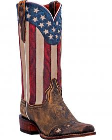 Dan Post Liberty Stars Cowboy Boots - Square Toe