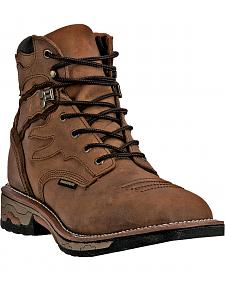 "Dan Post Men's Flame Waterproof 6"" Lace-Up Work Boots - Square Toe"