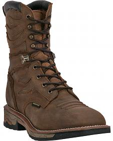 "Dan Post Snapyr Waterproof 8"" Lace-Up Work Boots - Square Toe"