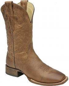 Corral Waxi Brown Cowboy Boots - Square Toe