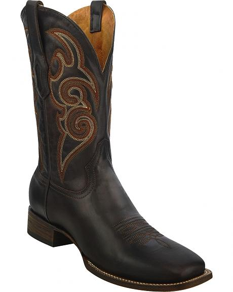 Corral Chocolate Brown Cowboy Boots - Square Toe