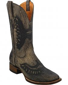Corral Brown Shaded Eagle Cowboy Boots - Square Toe