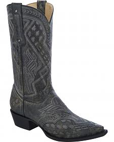 Corral Embroidered Cowboy Boots - Snip Toe