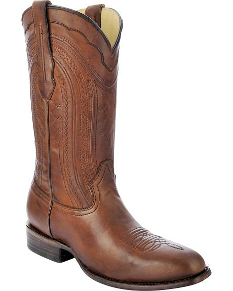 Corral Burnished Leather Cowboy Boots - Square Toe